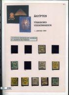 BM2362, O, X, Ex. 2-41, Ägypten, Türk. Königreich, Brief, AK 4-er Block Leerfelder Oben, Auf 5 A4 Seiten - Ägypten