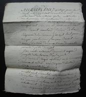 1779 La Charrière Poitou Saintonge Pierre Benoist Et Jean Martin, Reconnaissance De Métairie - Manoscritti