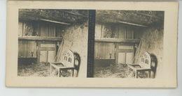 PHOTOS STEREOSCOPIQUES - GUERRE 1914-18 - Photo STEREO - La Tanière Où Se Terrait Le KRONPRINZ Pendant La Bataille De La - Photos Stéréoscopiques