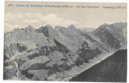 Suisse. Chaine Du Gros Brun (Schopfenspitz) Col Des Neuschels, Kaiseregg (8610) - FR Fribourg