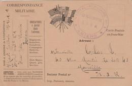 Carte Correspondance Militaire Cachet Hôpital Auxiliaire N° 1 AMIENS Somme 3/10/1916 à Calas Marseille Voir Description - Poststempel (Briefe)