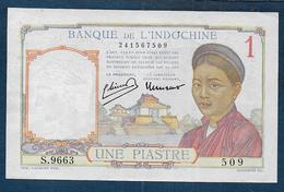 INDOCHINE - Billet  1 Piastre - Indochina