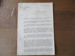 LILLE LE 20 OCTOBRE 1941 PREFECTURE DU NORD CONTRÔLE DES ATTRIBUTIONS AUX MALADES DES COUPONS SUPPLEMENTAIRES DE CHARBON - Documents Historiques
