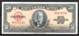628-Cuba Billet De 50 Pesos 1958 B847A - Cuba