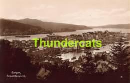 CPA CARTE DE PHOTO FOTO NORWAY NORGE BERGEN PANORAMA - Norvège
