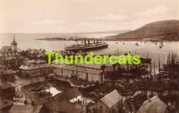 CPA CARTE DE PHOTO FOTO NORWAY NORGE BERGEN HAFEN HAVNEN - Norvège