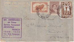 ARGENTINE : PA . 20 ème ANNIVERSAIRE . DU PREMIER SERVICE AEROPOSTAL AIR FRANCE . 1948 . - Argentina