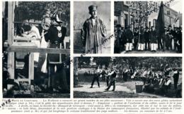 """1929 : Photo, Belgique, Liège, Fêtes, Jeux Coutumes, Arquebusiers De Visé, Société Du """"Bouquet De Grivegné"""", Tir A L'Arc - Collections"""