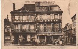 ***  52  ** LANGRES Place Ziegler R Borel Proprietaire - Café Restaurant Défaut Angle Dos Sale - Langres