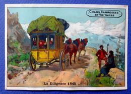 CHROMO....CHARS .CARROSSES ET VOITURES....  PUB /ANDRE GODIN.....DILIGENCE 1845 - Chromos