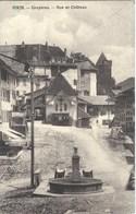CPA Suisse - Fribourg   * Gruyères , Rue Et Château * - FR Fribourg