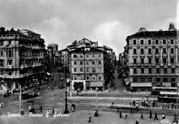 TRIESTE-PIAZZA GOLDONI-FILOBUS-1955 - Trieste