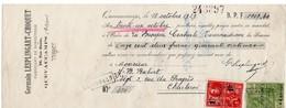 GERMAIN LESPLINGART-CHOQUET - FABRIQUE DE BONNETERIE - QUEVAUCAMPS - 1929 - Lettres De Change