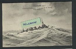 """"""" POTHUAU ' Croiseur Cuirassé Français De 1er Rang ( Par Grosse Mer ) - Krieg"""