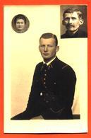 CPA Photo Carte + 2 Petites Photos Collées D'un Militaire Ou Gendarme Marcel Foucal Du 6° Régiment - Regiments