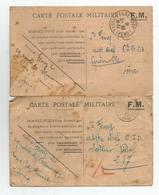 Carte Franchise Militaire Fm 1940 Et 1941 Lons Le Saunier 39 Jura Pour Grenoble 6 Bca Chasseur Alpin  Lot 2 Cartes - Marcophilie (Lettres)