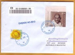2019 Moldova Moldavie  Mahatma Gandhi India Current Registered Mail Rate. Used - Mahatma Gandhi
