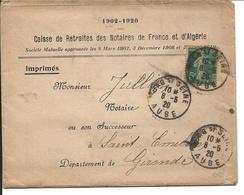 France LAC Caisse Retraites Notaires Bar Sur Seine 08/05/20 - Marcofilia (sobres)