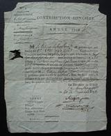 Fumel (Lot Et Garonne) 1793 Contribution Foncière Pour Le Citoyen Lafage Jean, Directoire Du District De Monflanquin - Marcophilie (Lettres)