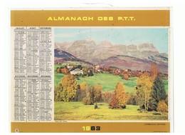 Almanach Des PTT De 1963 Département 86 Pont De BIdarray (64) Combloux (Savoie) - Calendriers