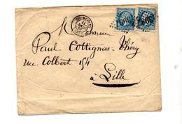 Lettre Cachet Losange Tourcoing Sur Napoleon + Lille - Storia Postale