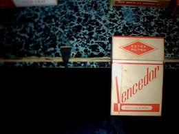 """Publicité Cigarette Paquet  Ancien  En Carton Vide Marque  VENCEDOR Origine Espagne """"boquilla Lanca"""" - Cigarettes - Accessoires"""