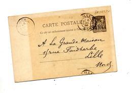 Carte Postale 10 C Sage Cachet ? + Lille - Entiers Postaux