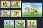 AZERBAIJAN 1994 Football World Cup Set Of 7 + Block MNH / ** - Azerbaïjan