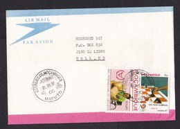 Mozambique: Cover To Netherlands, 1987, 2 Stamps, Chess, Olympics, Disabled, Wheelchair, Rare Real Use (traces Of Use) - Mosambik