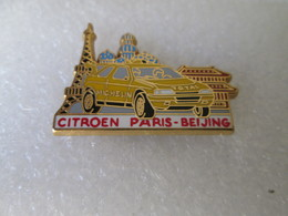 PIN'S     CITROEN  ZX  RALLYE RAID  PARIS  BEIJING   Arthus  Bertrand - Citroën