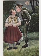 Cpa Fantaisie Humoristique   / Couple S'embrassant Au Clair De Lune - Künstlerkarten