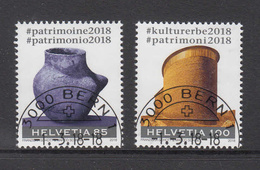 2018      N°  1673-1674 1713    OBLITERES  JOUR D'EMISSION     CATALOGUE  ZUMSTEIN - Oblitérés