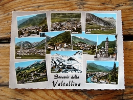 (FG.J64) Souvenir Della VALTELLINA - VEDUTE VEDUTINE (TEGLIO,SONDALO,MORBEGNO,LIVIGNO,CHIAVENNA...) SONDRIO - Sondrio