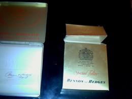 Publicité Cigarette Boites Ancienne En Carton & Métal Vide Marque Benson & Hedges Angleterre London - Cigarettes - Accessoires