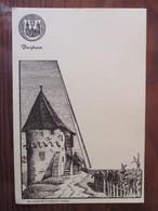 CPSM - 68 - BERGHEIM - TOURS D'ALSACE . Dessin De HANSI  - Carte Neuve - 2 Photos - Francia