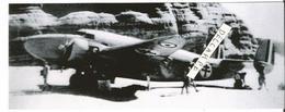 PHOTO AVION LOCKHEED C56 EX FC-BAB VERDUN GENERAL LECLERC SUR TERRAIN DE ZOUAR DESERT DE FEZZAN RETIRAGE 17X7CM - Aviation