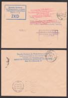BERLIN Akademie Der Wissenschaften Kastenst. In Blau Statt Violett, Roter Aufbewahrungsst. 12.1.62 - Dienstpost
