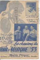 """Les Chansons Du Tour De Belgique '53: """"La Valse Des Beaux Jours"""" Par Le Trio Crosio Accordéon Et Le Chanteur De Guffroy - Partitions Musicales Anciennes"""
