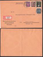Germany Kreis Glauchau (Sachsen) SBZ 29 Parteidienstmarken R-Brief 26.7.45, Nr. 21 Defekt, Bf. Gefaltet, Lokalausgabe - Zone Soviétique
