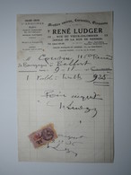 1936 PARIS René LUDGER MEUBLES ANCIENS CURIOSITÉS OCCASIONS Timbre Fiscal DA 75 Centimes BELFORT COUSIN - 1900 – 1949