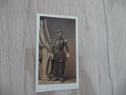 Photo CDV Militaire Militaria  Officier Sabre Décoration Médailles Pierre Petit Paris - Guerra, Militari
