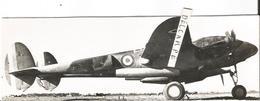 PHOTO AVION LOCKHEED P38 LIGHTNING F-5A DU GR 2/33 A LA MURSA EN TUNISIE EN 1943 17X6CM   PHOTO COLLé SUR SUPPORT - Aviation