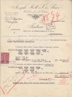 Facture (Joseph Rott, Saaz) Pour Des Ballots De Houblon Saaz Le 20/11/36, TP Fiscal 1kc Pour Pfaffenhoffen - Facturas