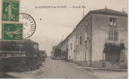 CPA Saint Gengoux De Scissé Grande Rue - Otros Municipios