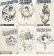 6 CPA – Les Bijoux ( Peigne, Broche, Miroir, …) , Art Nouveau, Art Nouille   ( FA ) - Autres