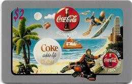 USA - Sprint - Score Board - SBI-466 - Coca Cola Adv. '95, Remote Mem. 2$, 7.100ex, Mint - Vereinigte Staaten