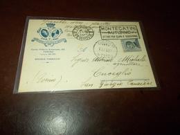 B761  Intero Postale Regno 1927 Brosio Tabacchi Torino Cm14x9 - Stamped Stationery