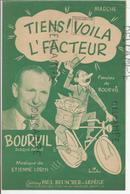 """"""" Tiens! Voilà L'facteur"""" Par Bourvil - Partitions Musicales Anciennes"""