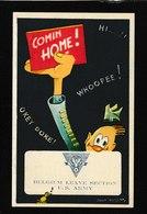 "Belgium ""Comin Home""art By Joop Geesink, Military Card - Antique Postcard - Belgium"