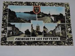 CHENEHUTTE LES TUFFEAUX - CPSM 49 - Multivues :Rue Principale, Eglise, Bourg ....Blason. - Otros Municipios
